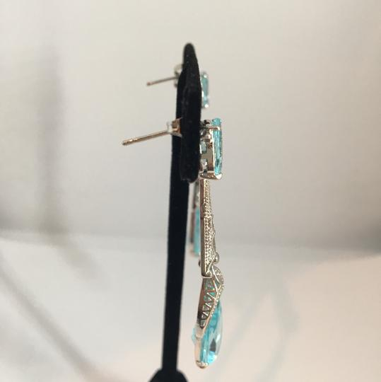 Other Silver & Aquamarine looking Earrings Image 4