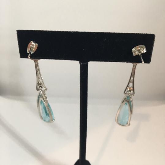 Other Silver & Aquamarine looking Earrings Image 5