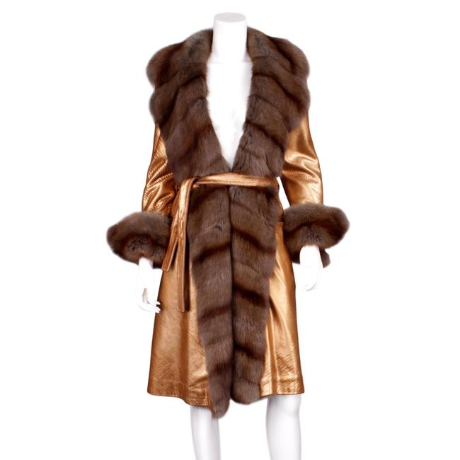 Preload https://img-static.tradesy.com/item/24296584/fendi-gold-vera-pelle-metallic-leather-and-sable-belted-open-us-coat-size-6-s-0-0-650-650.jpg