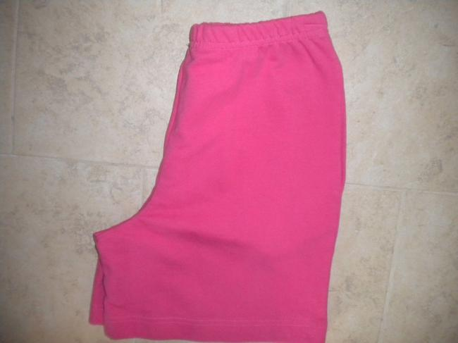 Coldwater Creek Elastic Waist New Cotton Pockets Pink Shorts Image 1