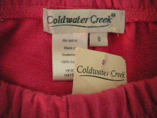Coldwater Creek Elastic Waist New Cotton Pockets Pink Shorts Image 4