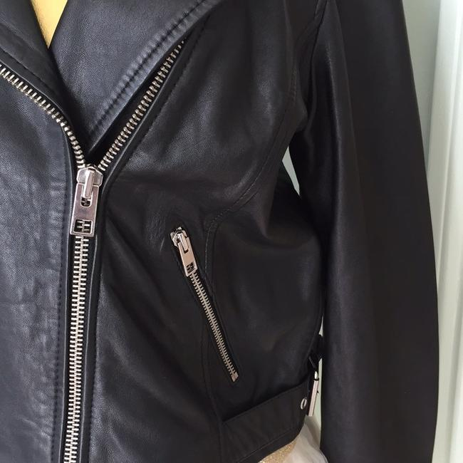 Lucky Brand black Leather Jacket Image 3