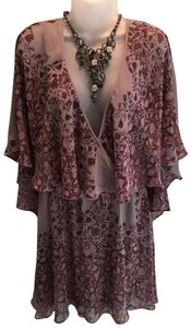 Free People short dress Plum and Taupe on Tradesy