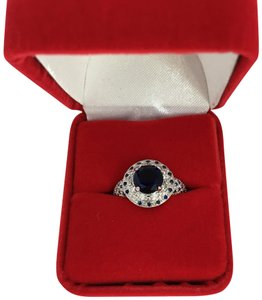 Other Silver and Blue Sapphire Ring