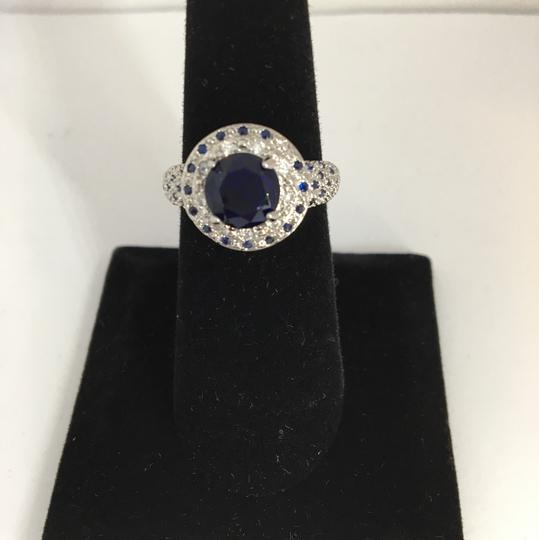 Other Silver and Blue Sapphire Ring Image 1