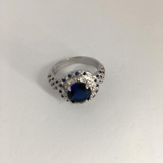 Other Silver and Blue Sapphire Ring Image 2