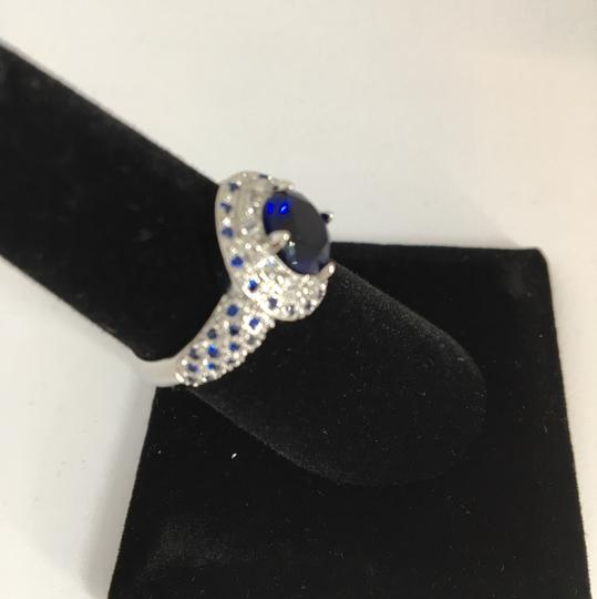 Other Silver and Blue Sapphire Ring Image 3
