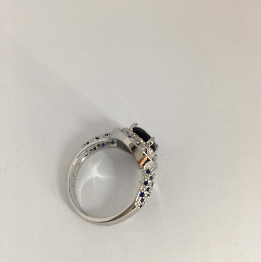 Other Silver and Blue Sapphire Ring Image 4