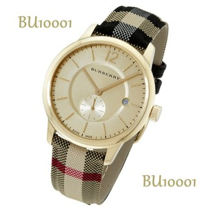 Burberry Burberry Gold Face New Dial Textile Multi-color Ladies Watch BU10001