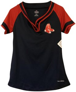 Majestic MLB Women's T Shirt Navy and Red