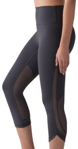 Lululemon Lululemon Grey Mesh Revitalize Crop Leggings