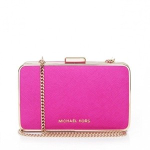 Michael Kors Pink and Gold Clutch