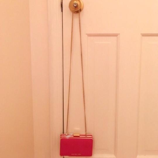 Michael Kors Pink and Gold Clutch Image 1