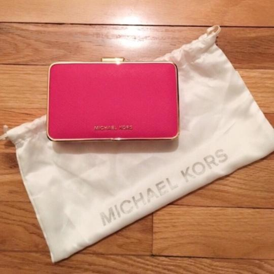 Michael Kors Pink and Gold Clutch Image 7
