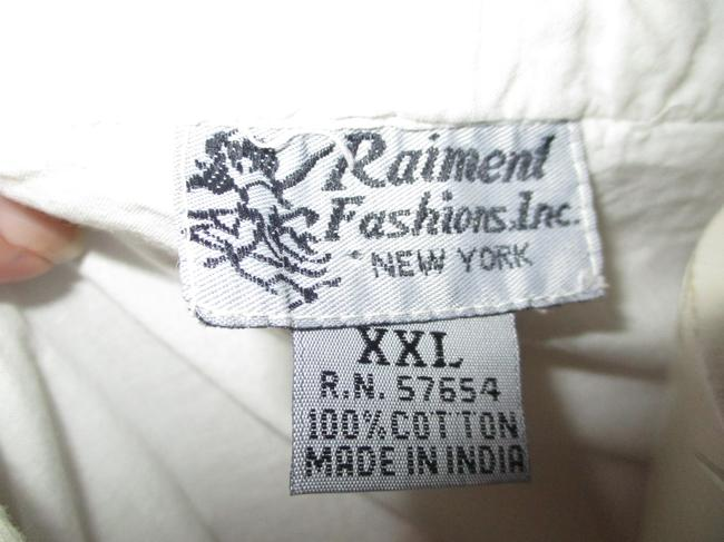 Raiment Fashions Inc. Vintage Cropped Ruffled Lace Up 001 Top white Image 7