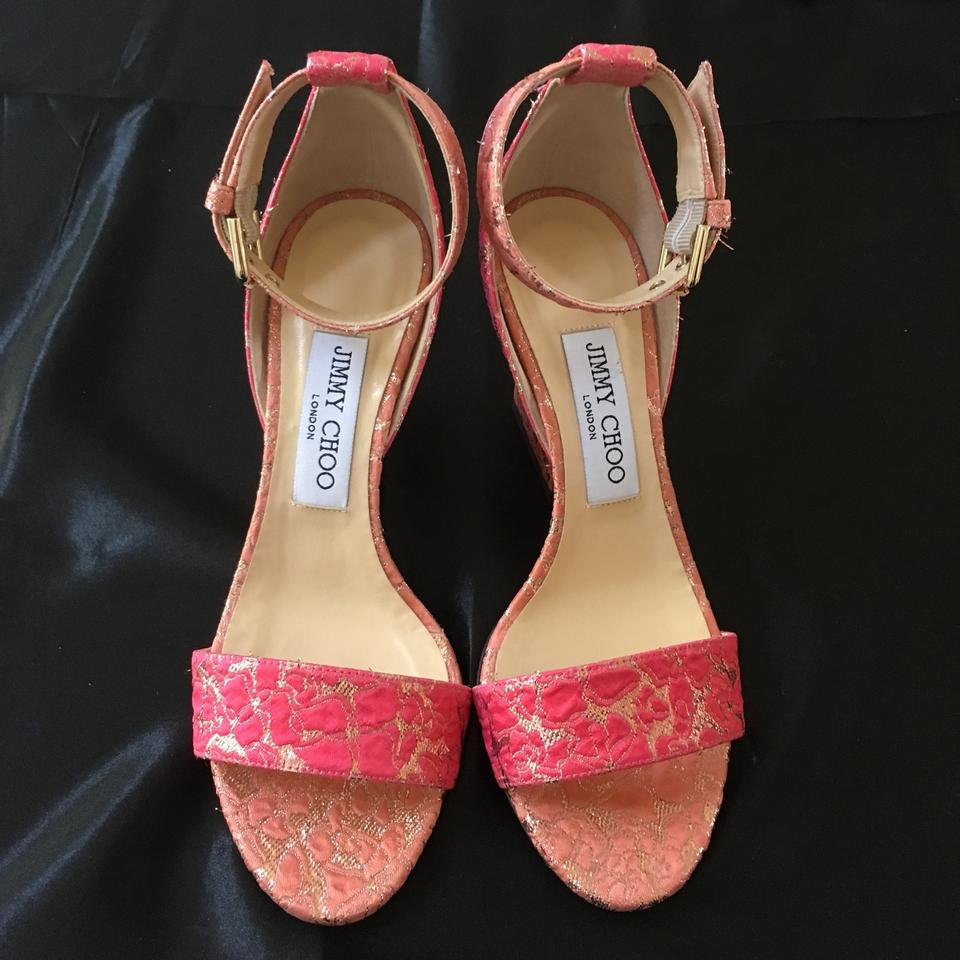 a47c312d280 Jimmy Choo Flamingo Edina 85mm Sandals Size EU 36.5 (Approx. US 6.5)  Regular (M