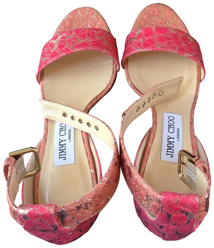 1b8c06638b8 Jimmy Choo Flamingo Edina 85mm Sandals Size EU 36.5 (Approx. US 6.5 ...
