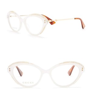 Gucci Authentic Gucci Cat Eyes Acetate/ Metal embellished optical glasses