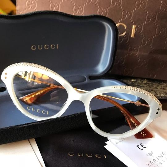 Gucci Authentic Gucci Cat Eyes Acetate/ Metal embellished optical glasses Image 1