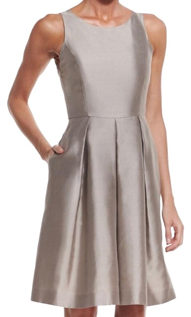 Preload https://img-static.tradesy.com/item/24296973/tan-fit-and-flare-mid-length-formal-dress-size-10-m-0-3-650-650.jpg