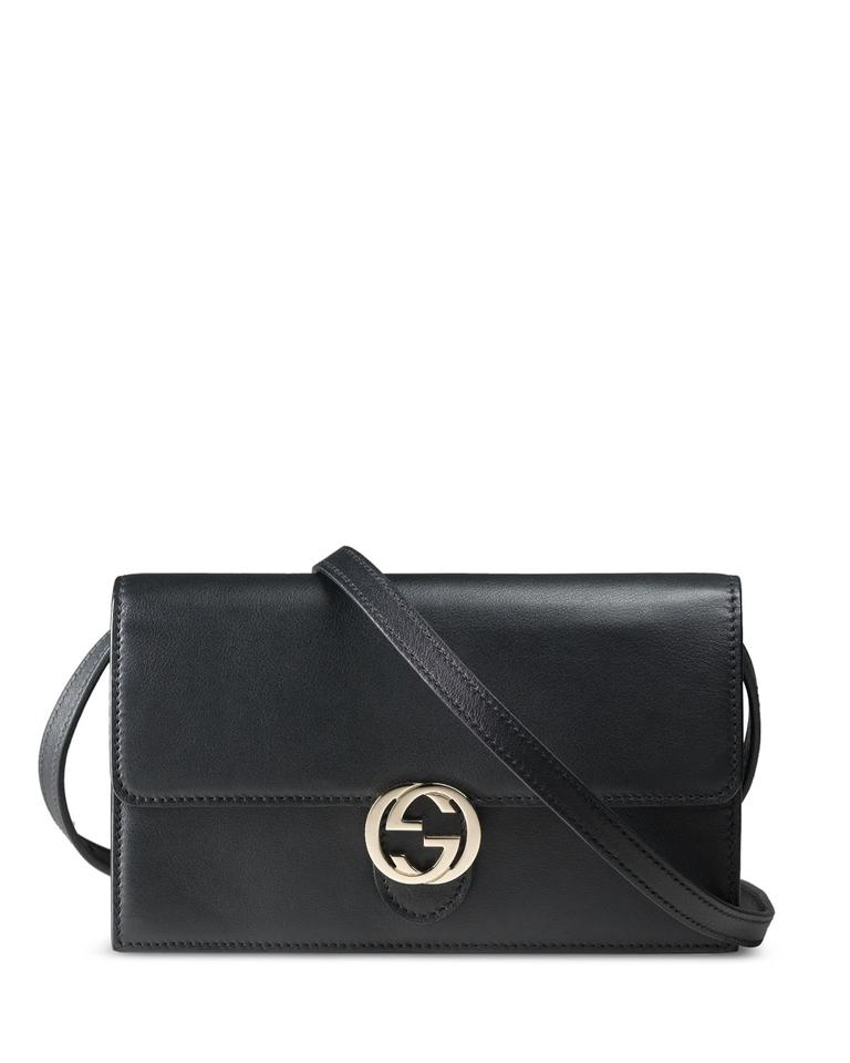 251a7532815b Gucci Icon Wallet with Strap Black Leather Cross Body Bag - Tradesy