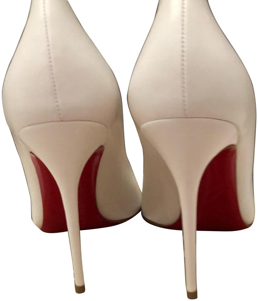 4d1f067208d1 Christian Louboutin Corneille Gucci Louis Vuitton Chanel White Latte Pumps  Image 0 ...