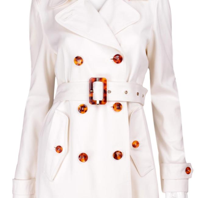 Gucci Tortoise Shell Belted Pea Coat Image 3