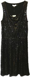 Calvin Klein Sequin Drape Neck Sleeveless New With Tags Dress