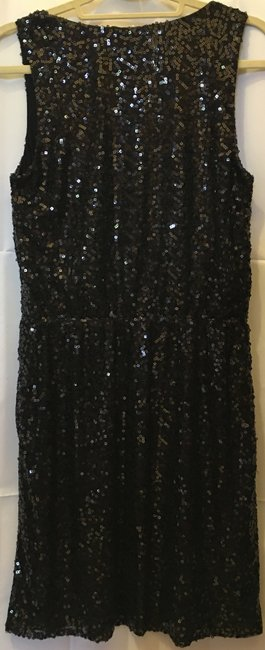 Calvin Klein Sequin Drape Neck Sleeveless New With Tags Dress Image 5