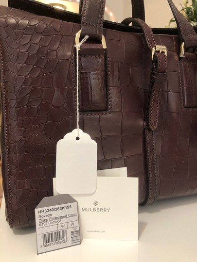Mulberry Crocodile Leather Embossed Tote in Oxblood Image 1