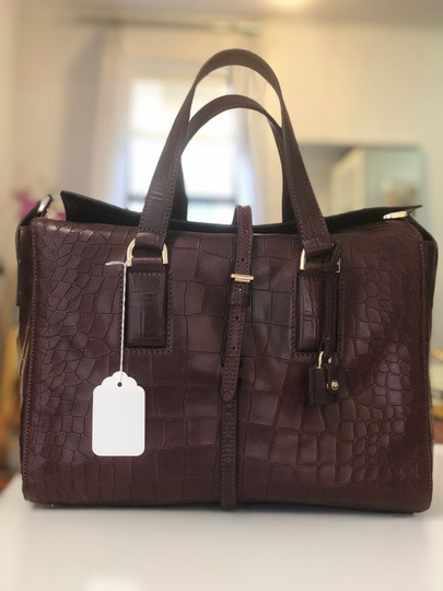 Mulberry Crocodile Leather Embossed Tote in Oxblood Image 2