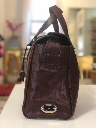 Mulberry Crocodile Leather Embossed Tote in Oxblood Image 3
