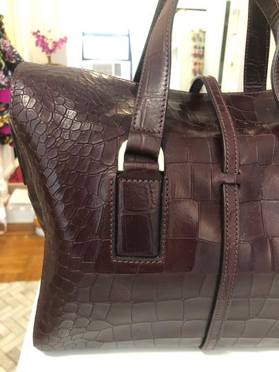 Mulberry Crocodile Leather Embossed Tote in Oxblood Image 4
