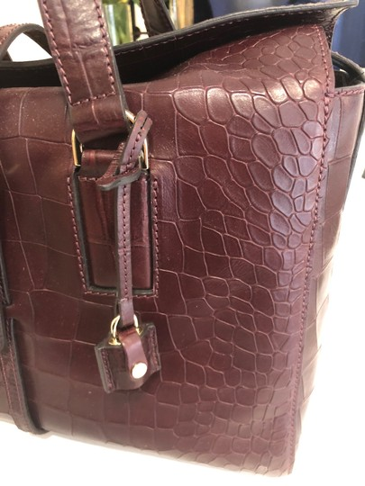 Mulberry Crocodile Leather Embossed Tote in Oxblood Image 5