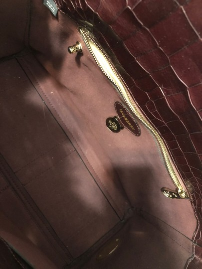 Mulberry Crocodile Leather Embossed Tote in Oxblood Image 6