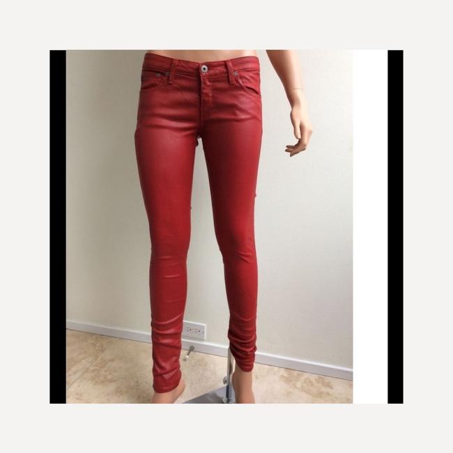 AG Adriano Goldschmied Skinny Pants Red Image 2
