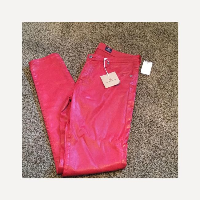 AG Adriano Goldschmied Skinny Pants Red Image 3