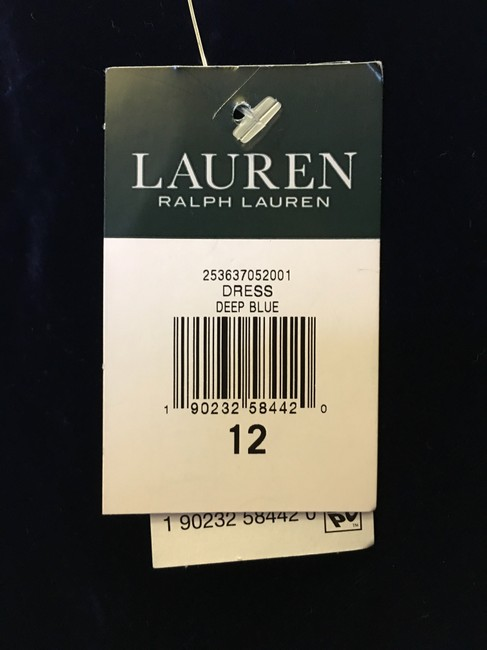 Lauren Ralph Lauren Deep Velvet Sweetheart Neckline Double Cross Straps New With Tags Dress Image 4