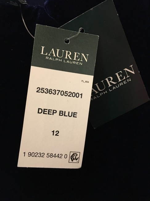 Lauren Ralph Lauren Deep Velvet Sweetheart Neckline Double Cross Straps New With Tags Dress Image 5