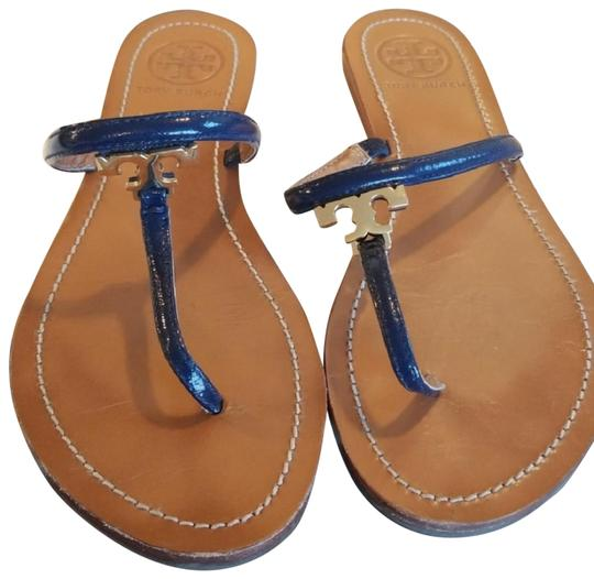 Preload https://img-static.tradesy.com/item/24297358/tory-burch-navy-blue-t-t-strap-leather-sandals-size-us-7-regular-m-b-0-1-540-540.jpg