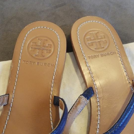 Tory Burch Navy Blue Sandals Image 3