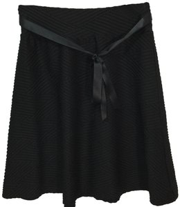 joe b Skater Ribbed Tie Skirt Black