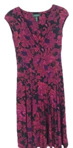 Lauren Ralph Lauren short dress black, pink, purple on Tradesy