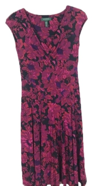 Preload https://img-static.tradesy.com/item/24297436/lauren-ralph-lauren-black-pink-purple-floral-short-casual-dress-size-2-xs-0-3-650-650.jpg
