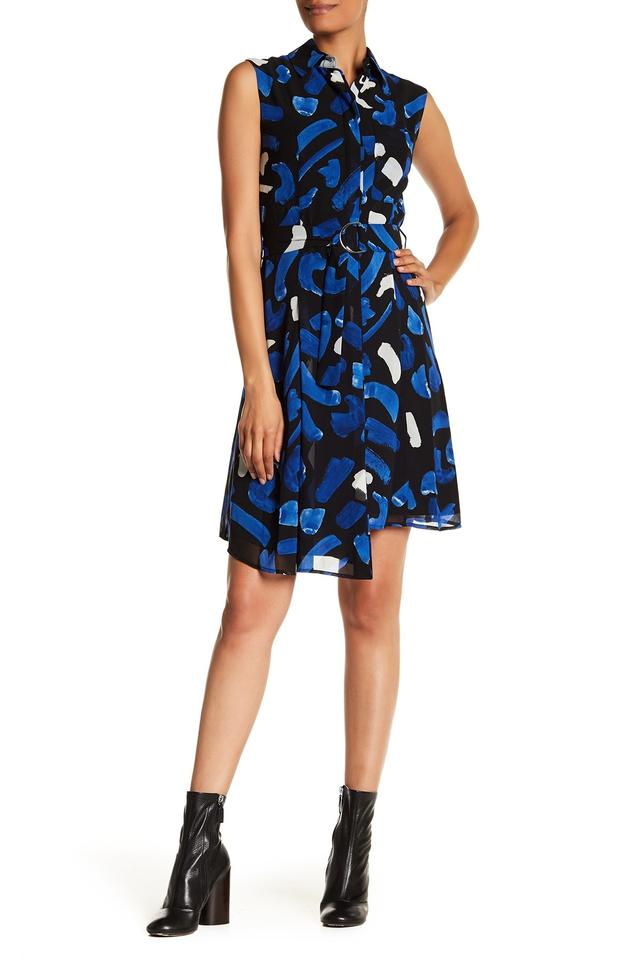 4b792dfea42be9 GREY Jason Wu Marine Multi Brush Stroke Sleeveless Mid-length Short ...