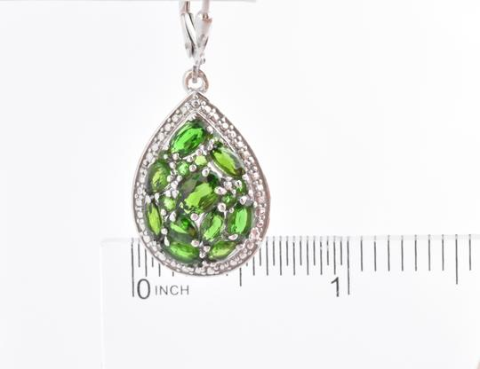 Other Chrome Diopside, Diamond Earrings