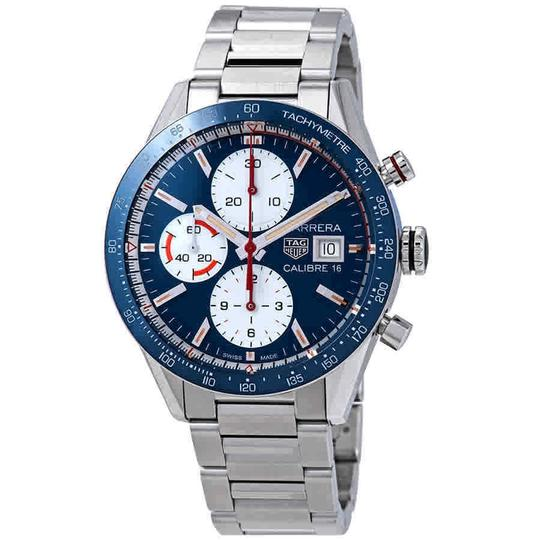 Preload https://img-static.tradesy.com/item/24297602/tag-heuer-carrera-blue-dial-men-s-chronograph-cv201ar-watch-0-0-540-540.jpg