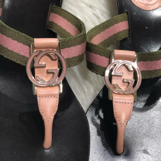 Gucci brown and pink Sandals