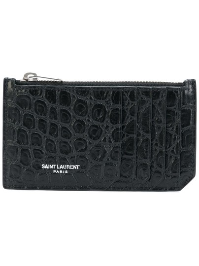 Preload https://img-static.tradesy.com/item/24297620/saint-laurent-black-croc-embossed-fragments-zip-card-case-wallet-0-0-540-540.jpg