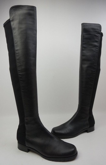 Preload https://img-static.tradesy.com/item/24297675/stuart-weitzman-black-5050-over-the-knee-otk-stretch-leather-bootsbooties-size-us-95-regular-m-b-0-2-540-540.jpg